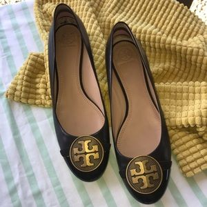 Tory Burch Black Leather Alastair Ballet Flats 11
